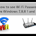 How to see Wi-Fi Password on Windows 7,8,8.1 and 10