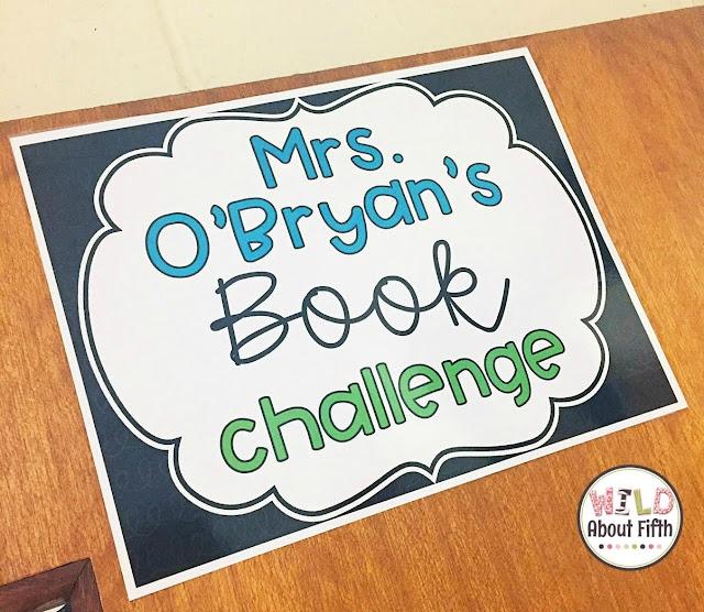 Teacher Book Challenge Display Poster