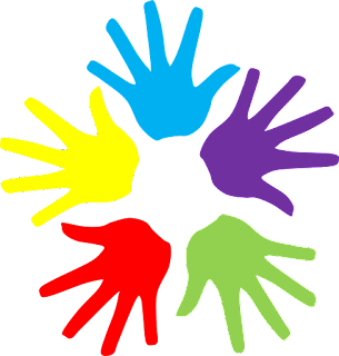 Colorful Hands clipart, Hands Clipart