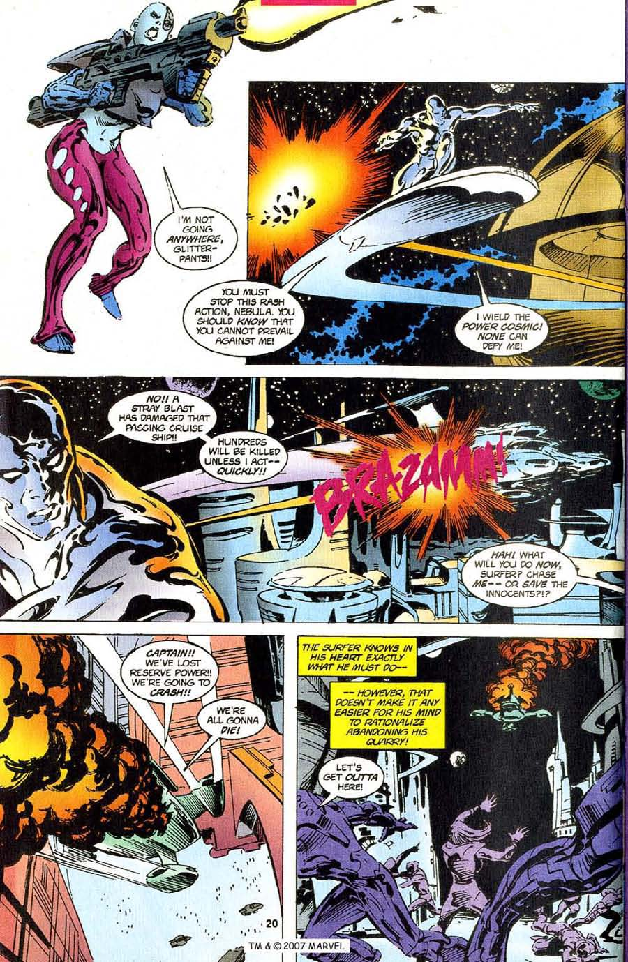 Read online Silver Surfer (1987) comic -  Issue #110 - 22