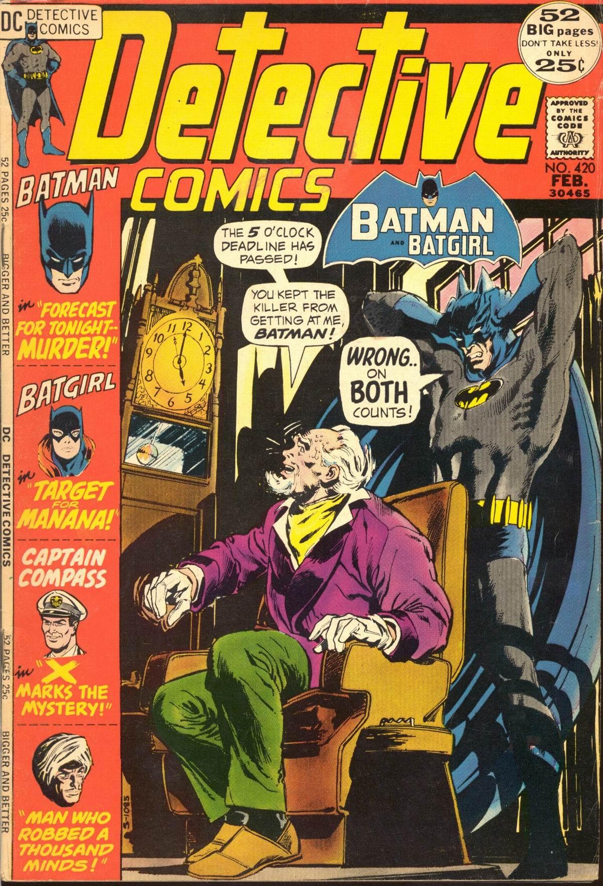 Detective Comics (1937) 420 Page 0