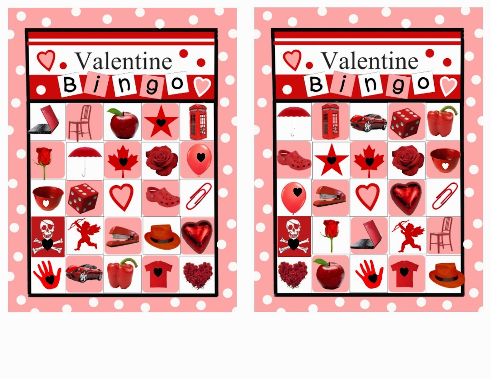 6 New Valentine S Day Bingo Cards For Kids