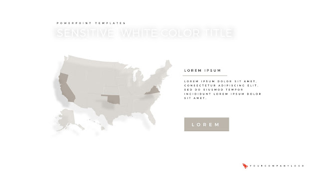 U.S Map of Premium PowerPoint Template with Whit Title