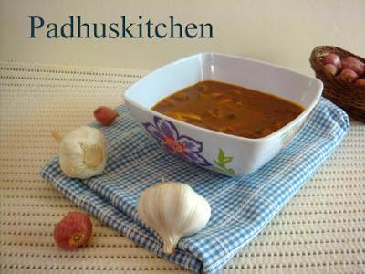 Poondu Kulambu-poondu kuzhambu-Onion garlic kuzhambu