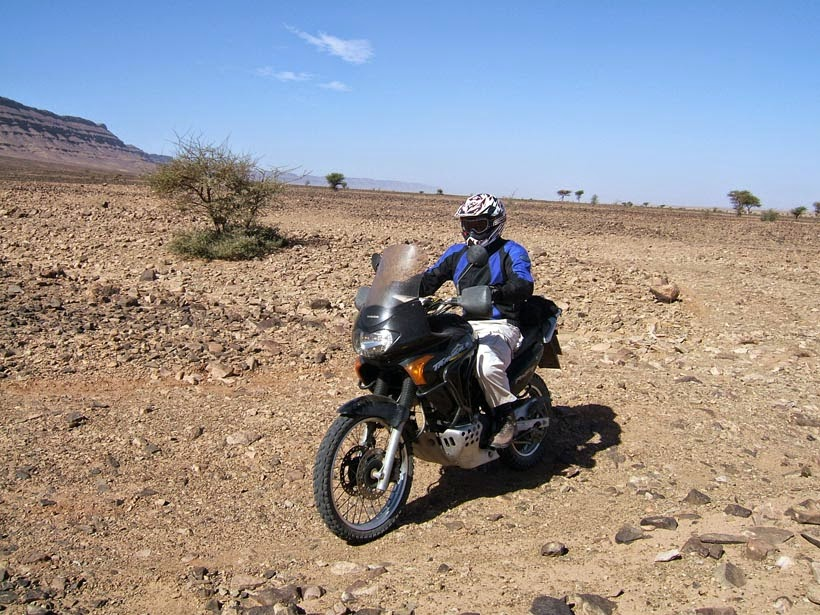 Por el desierto con la Transalp