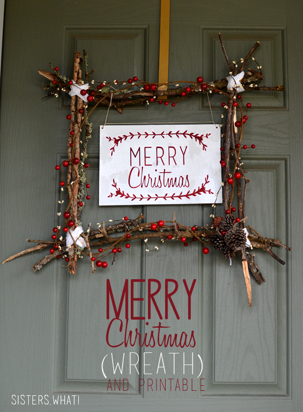 Merry Christmas Wreath and Free Printable