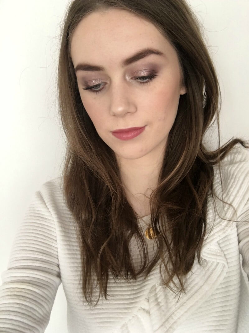 quick & easy purple eyeshadow look