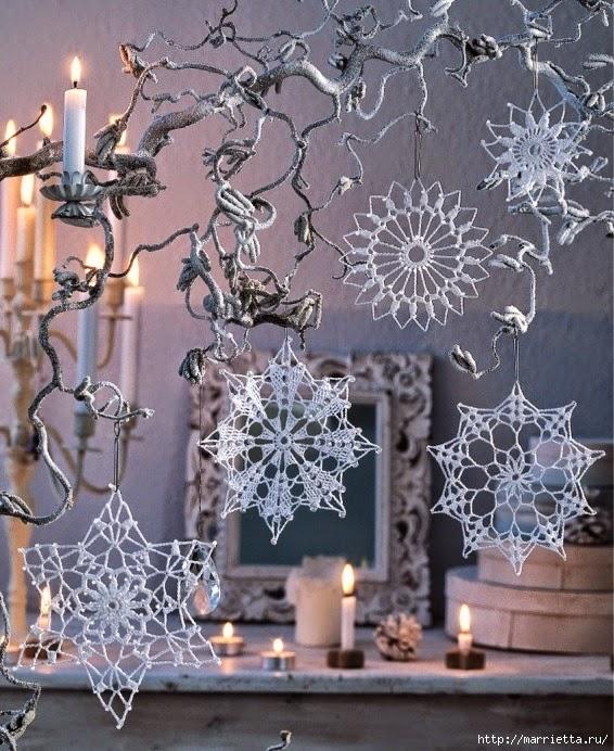 Estrellas para decorar en navidad - al crochet con patrón