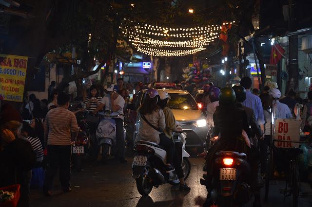 Centre-ville animée d'Hanoi