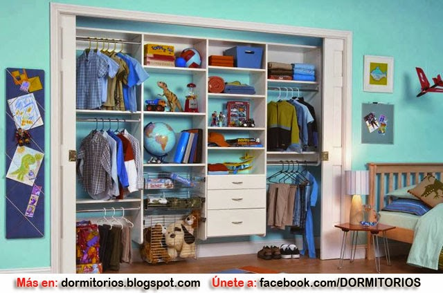 Closet para ni os y ni as for Tipos de closet para dormitorios