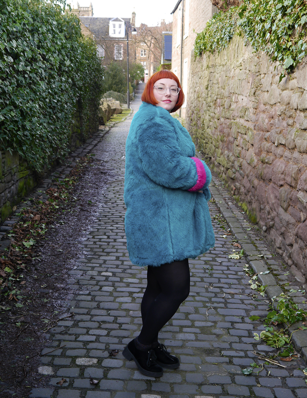 Isolated Heroes, Styled by Helen, Dundee designer, Scottish designer, Scottish blogger, Independent designer, street style, sequined outfit, full on faux fur