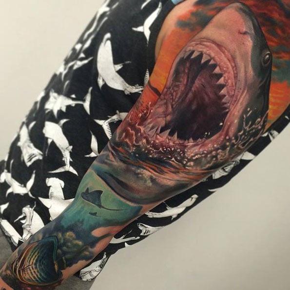 Tatuagens de tubarões