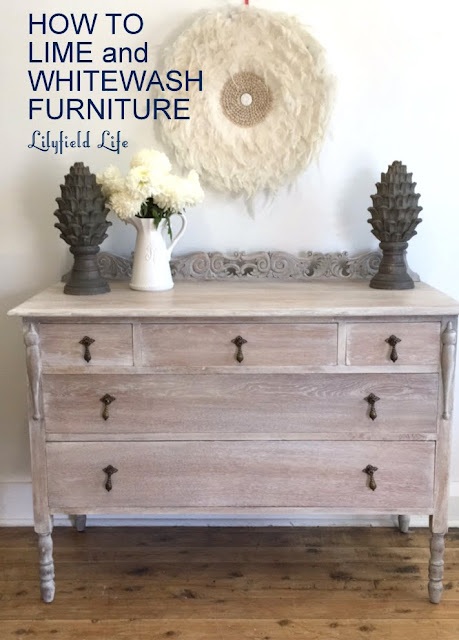 HOW TO LIME and  WHITEWASH  FURNITURE