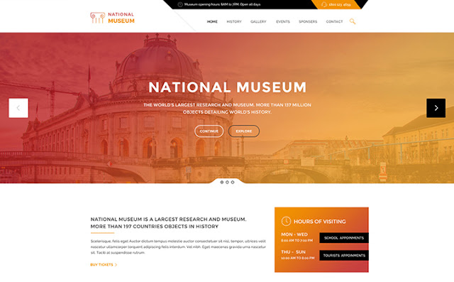 Museum - History & Art Gallery WordPress Theme