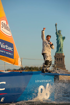 Jean Pierre Dick 3e de The Transat en IMOCA à New York