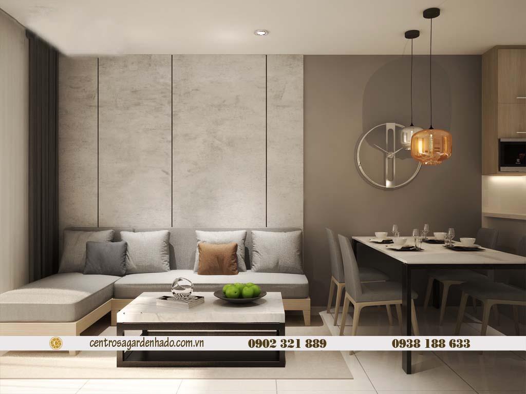 Căn hộ 1 phòng ngủ cho thuê HaDo Centrosa tầng cao | ảnh 3D 2