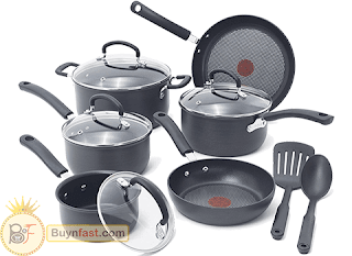12 pieces of cooking pots T-fal brand of the world's leading kitchen utensils