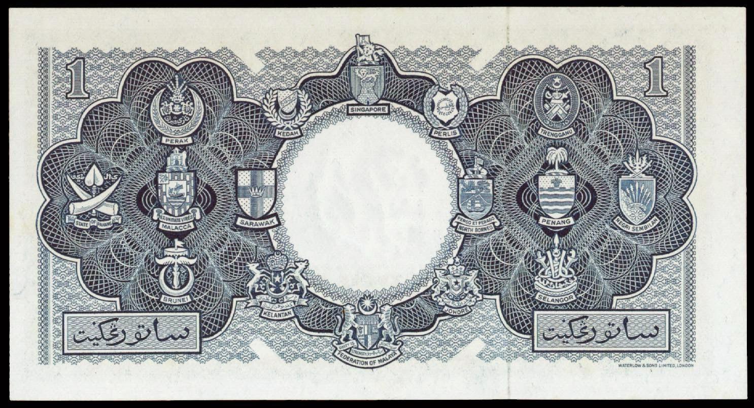 Malaya & British Borneo 1 Dollar note