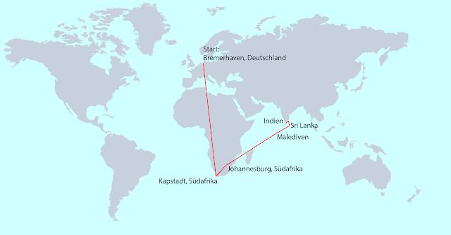 Arkadij und Katja Weltreise Route Länder Karte Map
