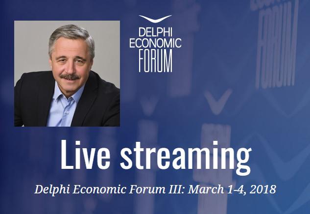 Ζωντανή μετάδοση της συζήτησης για επενδύσεις στην Ενέργεια, στο Οικονομικό Φόρουμ των Δελφών