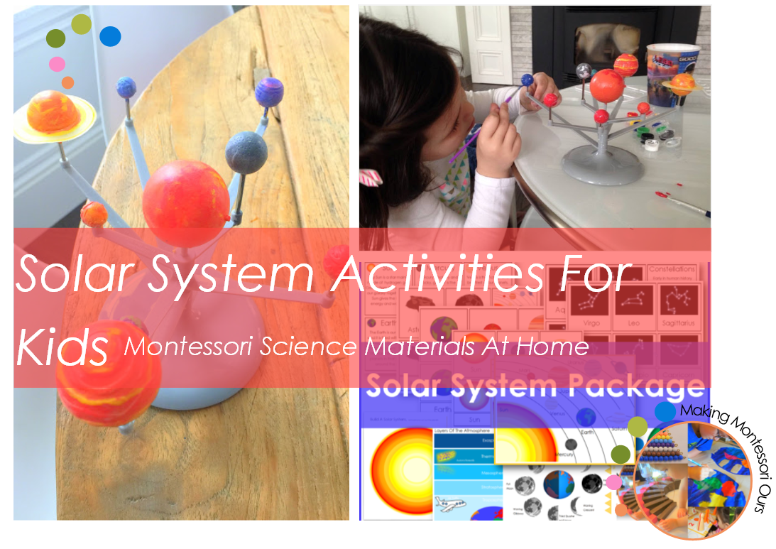 Solar system activities for kids montessori science at for Solar project for kids
