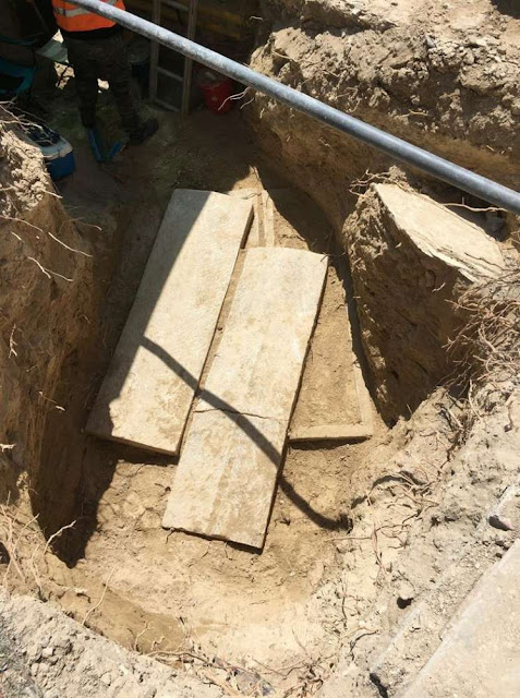 Sewerage construction unearths vast necropolis in Larnaca