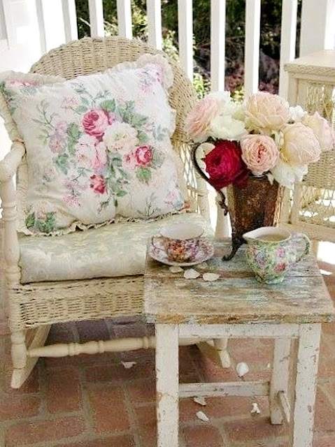 front porch, summer, french chair