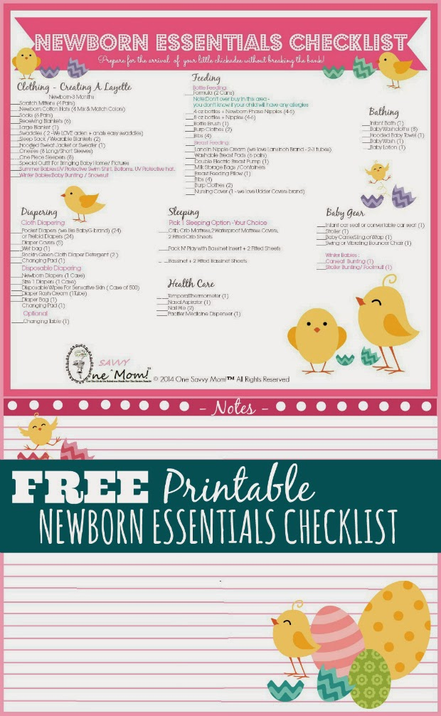 One Savvy Mom ™ NYC Area Mom Blog Newborn Essentials Checklist
