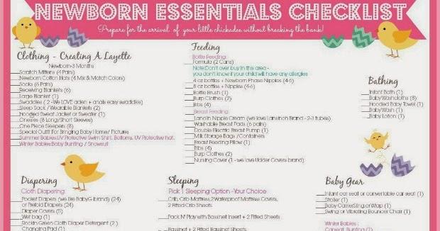 One Savvy Mom ™ NYC Area Mom Blog Newborn Essentials Checklist