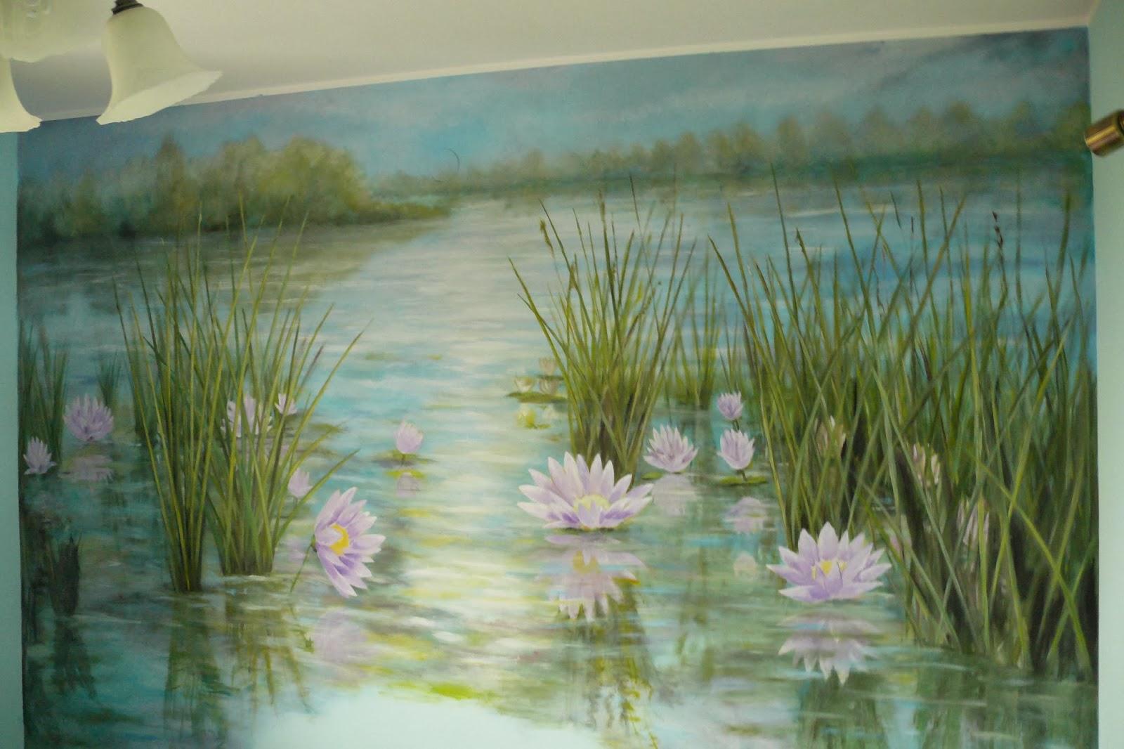 Malowanie obrazu na ścianie, aranżacja ściany w sypialnie, malarstwo 3D