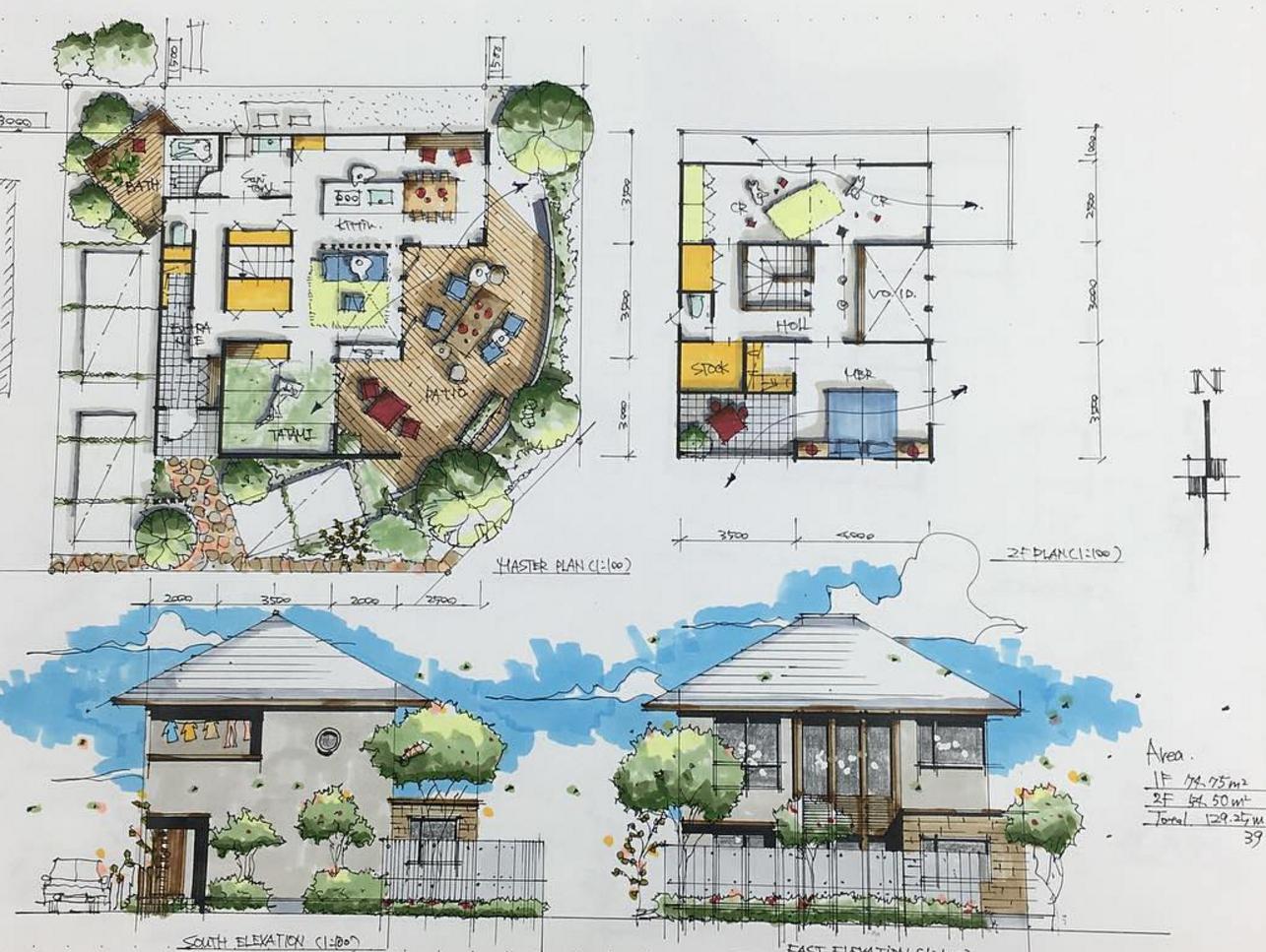 101 planos de casas planos de casas de 2 plantas peque as for Planos de casas con patio interior