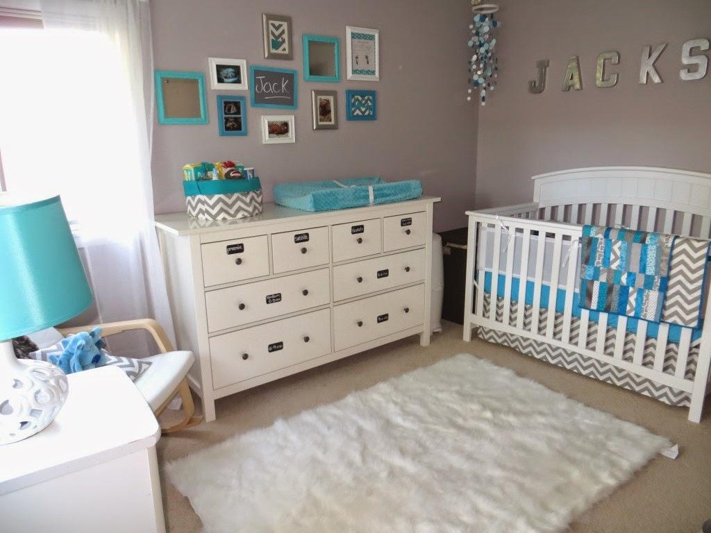 Cuartos de beb en turquesa y gris dormitorios colores y for Paredes turquesa y gris