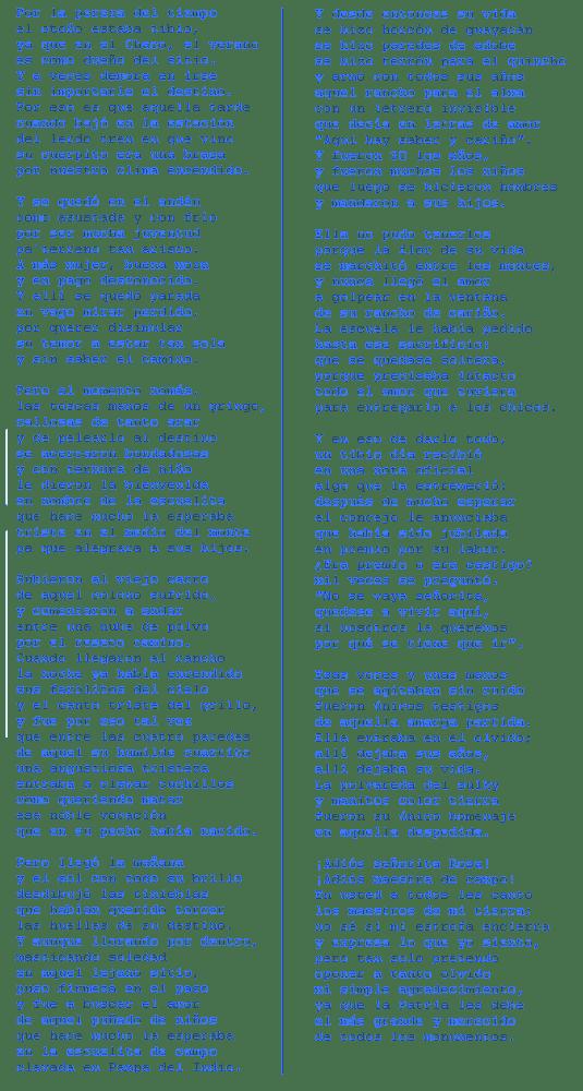 Maestra de campo, poema de Luis Landriscina