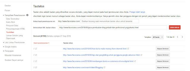 cara mendapatkan sitelink blog