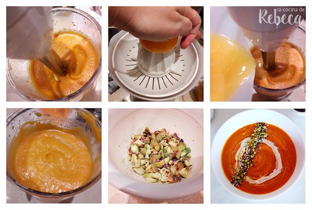 Receta de crema de zanahoria y mandarina al curry 03