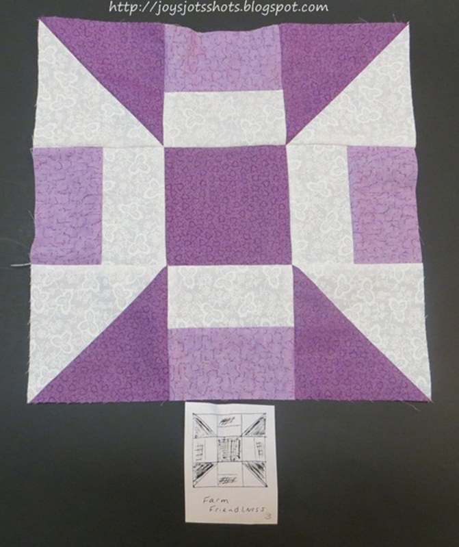 http://joysjotsshots.blogspot.com/2013/07/quilt-block-shot-4-farm-friendliness.html