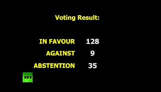 adopted 128-9 with 35 abstentions