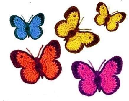 Mariposas a Ganchillo