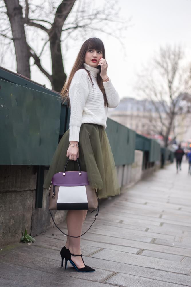 与我见面,博客,时尚,外观,薄纱裙,别致的巴黎风格