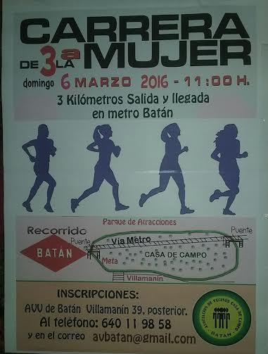 Ampa csb madrid 3 carrera de la mujer en bat n for Autoescuela colonia jardin