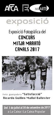EXPOSICIÓ FOTOGRÀFICA DE LA MITJA MARATÓ DE CANALS 2017