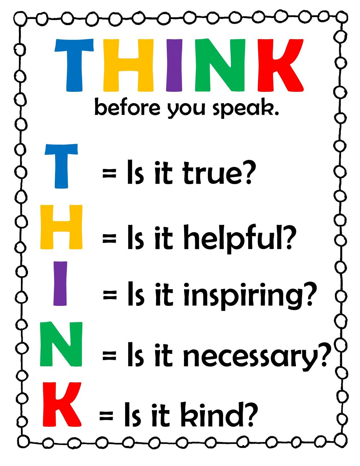 think before talking in essay