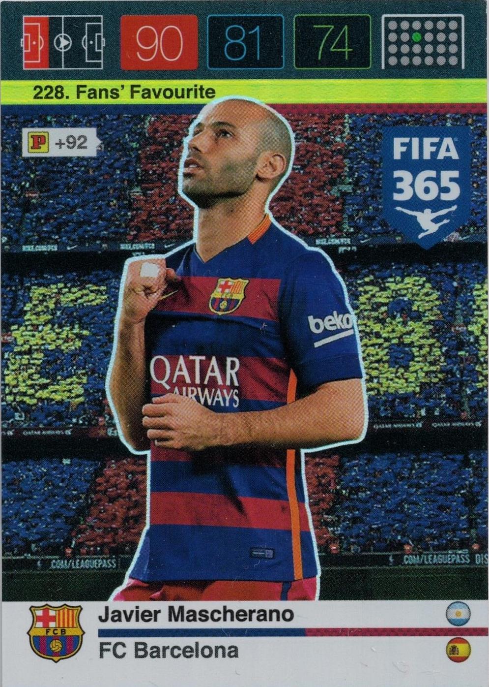 Fifa 365 Adrenalyn XL-nº 267 Giacomo Bonaventura-dínamo