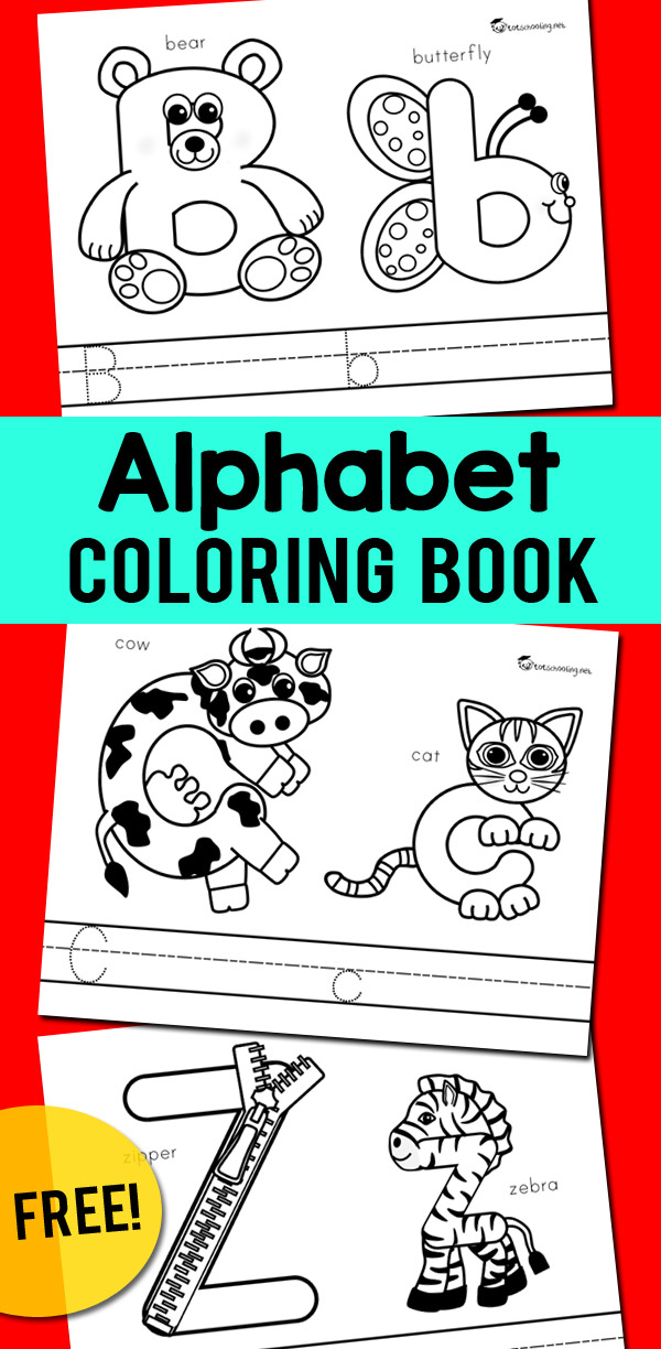 Alphabet Coloring Book Totschooling - Toddler, Preschool, Kindergarten  Educational Printables