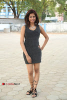Actress Model Sravani Cute Stills in Silver Tight Short Dress at Pochampally IKAT Art Mela 2017 Launch  0005.jpg