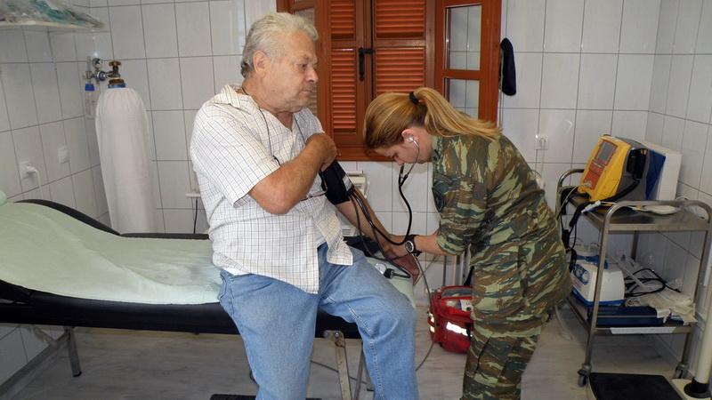 Στρατιωτικό ιατρικό κλιμάκιο στο Τυχερό Έβρου