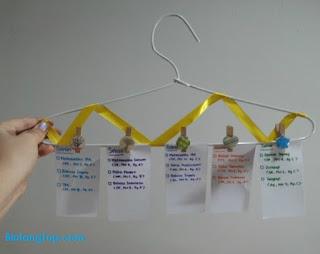 Cara Pembuatan Schedule Hanger
