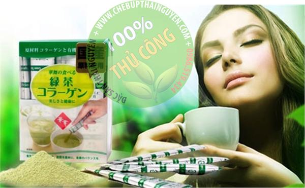 trà colagen tinh chất trà xanh từ nhật bản