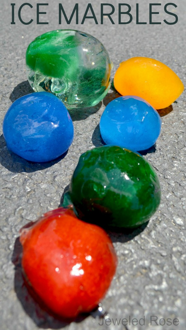 10 FUN Ways to play with ice marbles this Summer (easy to make and so fun!)