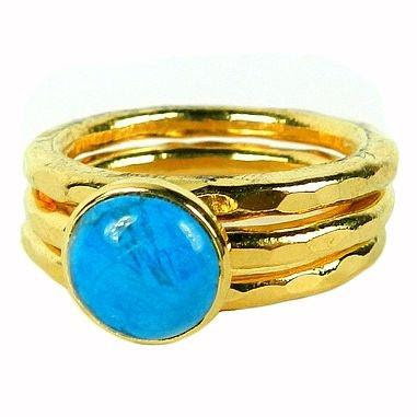 Mama Mia, colours, turquoise, summer ring, Mediterranean colours, summer accessories, stacking rings